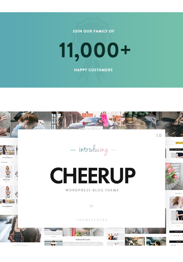 CheerUp Blog Theme