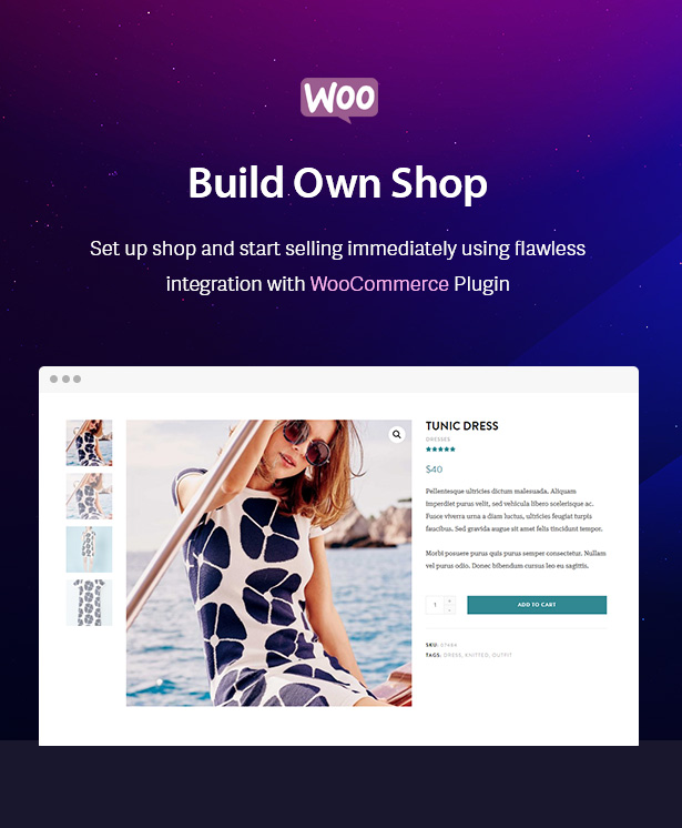 Build your Shop with WooCommerce