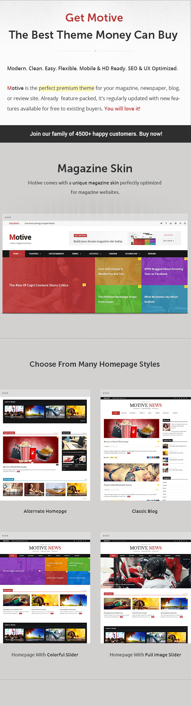 WordPress theme Motive - Magazine, News, Blog WordPress Theme (News / Editorial)