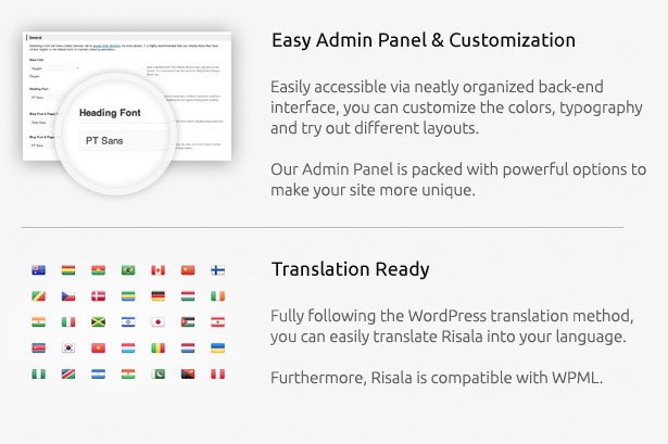 Advanced Admin Panel and Translation ready