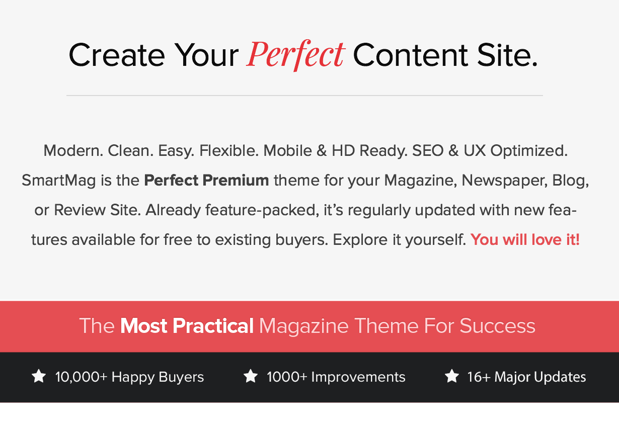 Most Popular WP Magazine, Newspaper, Blog WordPress Theme of 2014 with Lifetime Free Updates and Support