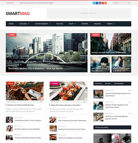 SmartMag - Premium Magazine, News, Blog WordPress Theme - Demo Selection